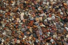 Czarny i biały skały plaża Obraz Stock