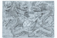 Czarny i biały smoka ściana z cegieł tekstury tło, ściana tekst/ Fotografia Royalty Free