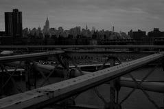 Czarny I Biały strzał Miasto Nowy Jork obrazy royalty free