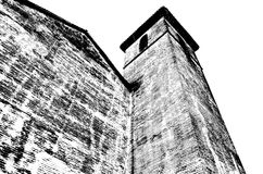 Czarny i biały sylwetka kościół w Granada, Hiszpania Obrazy Royalty Free