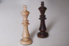 Czarny i biały szachowi królewiątka Fotografia Royalty Free
