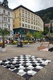 Czarny i biały szachownica na kwadracie w Zell jest Widzii zdjęcia royalty free