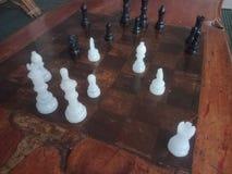 Czarny i biały szachy fotografia royalty free