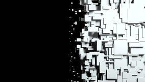 Czarny i biały sześcianu ekranu wytarcia przemiana fotografia royalty free