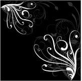 Czarny i biały tło Obraz Stock
