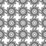 Czarny i biały tło z bezszwowym wzorem Fotografia Royalty Free