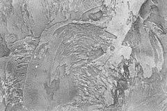 Czarny i biały tło zbudowany tynk Fotografia Stock