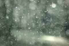 Czarny i biały tekstura śnieg obraz stock