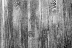 Czarny i biały textural tło drewniane deski układać pionowo Obrazy Stock