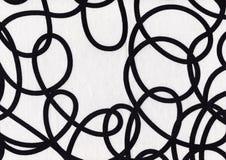 Czarny I Biały tkanina obraz stock