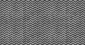 Czarny i biały trójboka kształta fala tekstury tekstylny bezszwowy deseniowy tło Powtórkowy trójbok tkaniny zygzag kształta wzór Obraz Stock