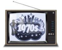 Czarny i biały TV obrazy stock