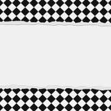 Czarny I Biały W kratkę rama z Poszarpanym tłem Fotografia Stock