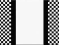 Czarny I Biały W kratkę rama z Tasiemkowym tłem Zdjęcia Stock
