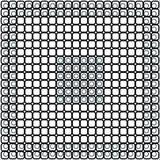 Czarny i biały w kratkę wzór kwadraty i okręgi Zdjęcia Stock