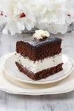 Czarny i biały warstwa tort zdjęcie stock