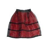 Czarny i biały warstwy płótna szyfonowa spódnica odizolowywająca na bielu zdjęcie stock