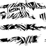 Czarny I Biały Wektorowy Bezszwowy wzór ilustracji