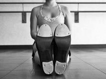 Czarny I Biały wersja dno Tapper& x27; s klepnięcia buty Zdjęcia Stock