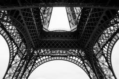 Czarny I Biały wieża eifla w mieście Paryski Francja Zdjęcia Stock