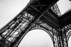 Czarny I Biały wieża eifla w mieście Paryski Francja Zdjęcie Stock