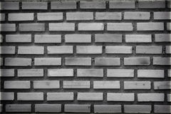 Czarny i biały wzór ściana z cegieł, stary ściana z cegieł tło Fotografia Royalty Free
