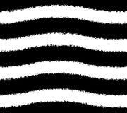 Czarny i biały wzór faliści grunge lampasy Obraz Stock