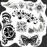 Czarny i biały wzór. Set Zdjęcia Stock