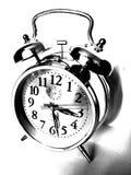Czarny i biały zegar Zdjęcia Royalty Free