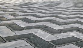 Czarny I Biały Zygzakowaty wzór robić od kamienia obraz stock