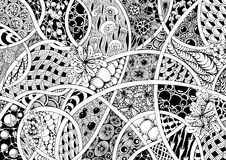 Czarny i biały abstrakcja Fotografia Royalty Free