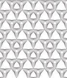 Czarny i biały abstrakcjonistyczny geometryczny bezszwowy wzór. Ilustracja Wektor