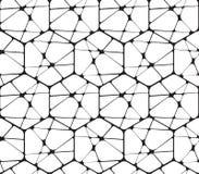 Czarny I Biały Abstrakcjonistyczny Geometryczny Wektorowy Bezszwowy Fotografia Stock