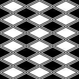 Czarny i biały abstrakta wzór z rhombus Obraz Stock