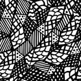 Czarny i biały bezszwowa tekstura z graficznym wzorem trójboki Zdjęcia Stock