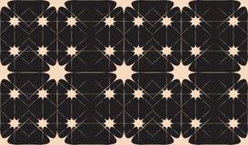 Czarny I Biały Bezszwowy abstrakta wzór z gwiazdami i liniami Fotografia Royalty Free
