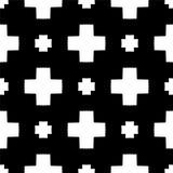 Czarny i biały bezszwowy i geometrical wzór zdjęcie stock
