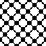 Czarny i biały bezszwowy geometrical wzór obraz stock