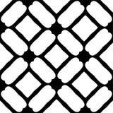 Czarny i biały bezszwowy geometrical wzór fotografia stock