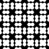 Czarny i biały bezszwowy geometrical wzór fotografia royalty free