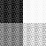 Czarny i biały bezszwowy geometryczny wzór Fotografia Stock