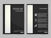 Czarny i biały broszurka projekt Fotografia Royalty Free