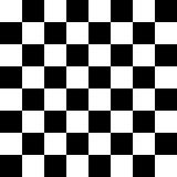 Czarny I Biały Checker wzór Fotografia Royalty Free