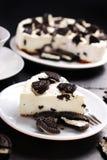 Czarny i biały cheesecake Zdjęcia Stock