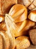Czarny i biały chleb Zdjęcia Royalty Free