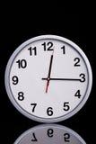 Czarny i biały chromu zegar Obrazy Royalty Free