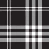 Czarny i biały czeka piksla kwadrata tkaniny tekstura bezszwowa Zdjęcia Royalty Free