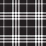 Czarny i biały czeka piksla kwadrata tkaniny tekstury bezszwowy patte Fotografia Stock