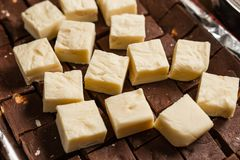 Czarny i biały czekolada Zdjęcia Stock