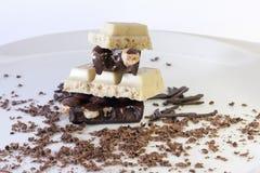 Czarny i biały czekolada Obraz Royalty Free